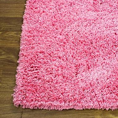 Super Area Rugs Cloud Microfiber Ultra Soft Shag Light Pink Area Rug; 3' x 5'