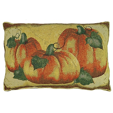 August Grove Brampton Crackle Pumpkin Tapestry Lumbar Pillow