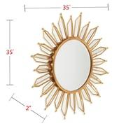 Everly Quinn Kennie Modern Sunburst Accent Mirror