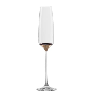 Everly Quinn Shemena Lead Free Crystal 5.75 oz. Champagne Flute (Set of 2)