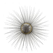 Everly Quinn Starburst Hand Painted Etched Metal Wall D cor