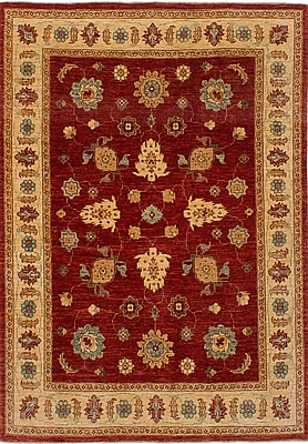 Darby Home Co Charlena Hand-Knotted Wool Dark Copper Indoor Area Rug