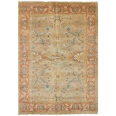 Darby Home Co Bassford Hand-Knotted Wool Khaki Indoor Area Rug