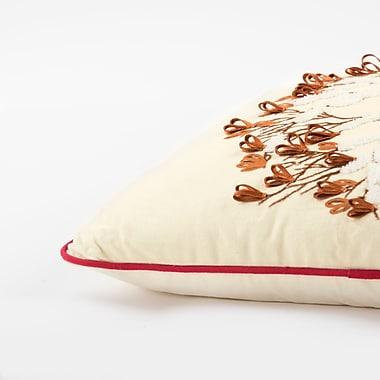 Darby Home Co Samos Winter Bird 100pct Cotton Throw Pillow