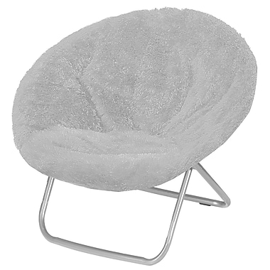 Ebern Designs Hilaria Oversized Papasan Chair; Gray
