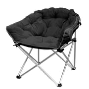 Ebern Designs Hera Oversized Papasan Chair; Black