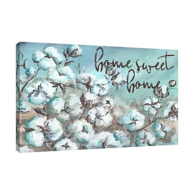 Red Barrel Studio 'Cotton Boll Field: Home Sweet Home' Print on Wrapped Canvas; 48'' H x 32'' W