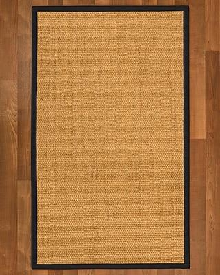 Winston Porter Healey Sisal Midnight Blue Area Rug; 5' X 8'