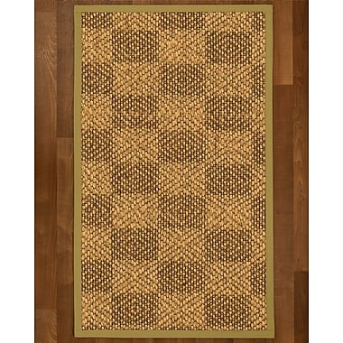 Winston Porter Hearne Sisal Khaki Area Rug; 2' X 3'