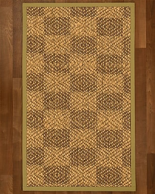 Winston Porter Hearne Sisal Khaki Area Rug; 6' X 9'