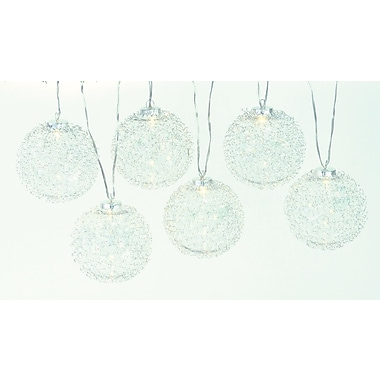 The Holiday Aisle Wired Ball w/ LED String lights (Set of 6)