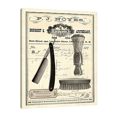 Williston Forge 'Apothecary Barber IV' Graphic Art Print on Wrapped Canvas; 20'' H x 16'' W