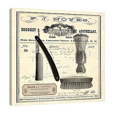 Williston Forge 'Apothecary Barber III' Graphic Art Print on Wrapped Canvas; 36'' H x 36'' W