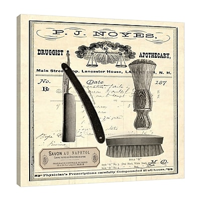 Williston Forge 'Apothecary Barber III' Graphic Art Print on Wrapped Canvas; 18'' H x 18'' W