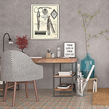 Williston Forge 'Apothecary Barber II' Graphic Art Print on Wrapped Canvas; 32'' H x 40'' W