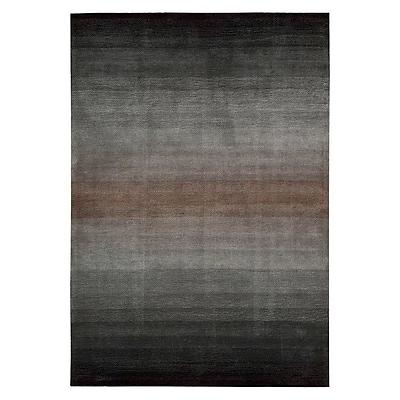 Williston Forge Ollie Hand-Tufted Gray/Black Area Rug; 8' x 10'6''