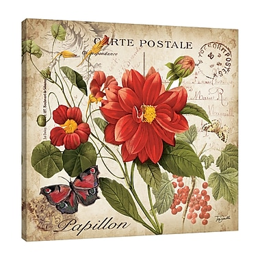 Winston Porter 'Floral Postcard II' Graphic Art Print on Wrapped Canvas; 24'' H x 24'' W