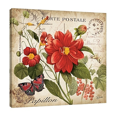 Winston Porter 'Floral Postcard II' Graphic Art Print on Wrapped Canvas; 48'' H x 48'' W