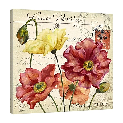 Winston Porter 'Colorful Poppies' Graphic Art Print on Wrapped Canvas; 12'' H x 12'' W