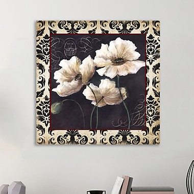 Fleur De Lis Living 'Tricoastal Black and White Poppies II' Graphic Art Print on Wrapped Canvas
