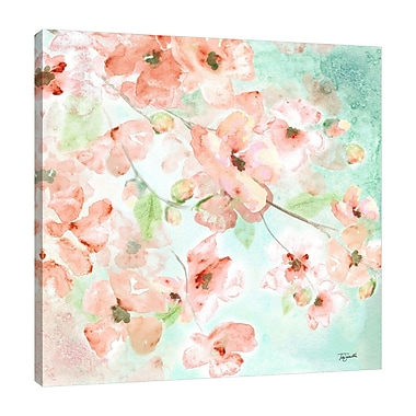 Ophelia & Co. 'Watercolor Blossoms II' Print on Wrapped Canvas; 48'' H x 48'' W