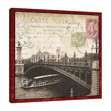 Ophelia & Co. 'Paris Postcard: Seine River' Graphic Art Print on Wrapped Canvas; 24'' H x 24'' W