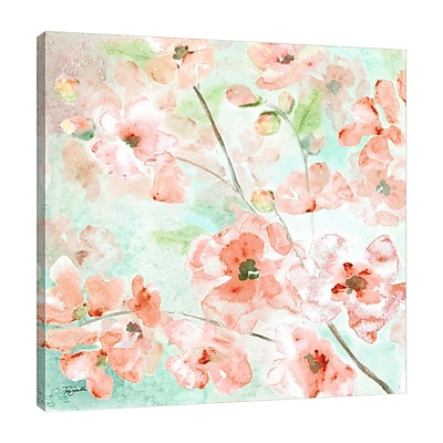 Ophelia & Co. 'Watercolor Blossoms III' Print on Wrapped Canvas; 12'' H x 12'' W