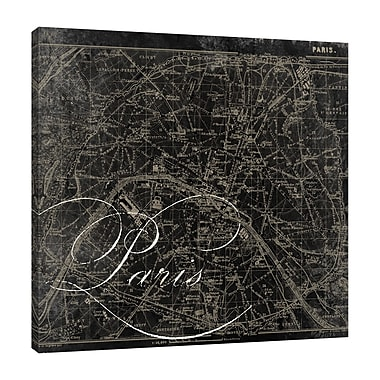 Ophelia & Co. 'Paris Map II' Graphic Art Print on Wrapped Canvas; 36'' H x 36'' W