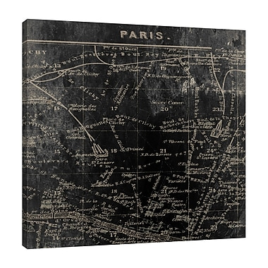 Ophelia & Co. 'Paris Map I' Graphic Art Print on Wrapped Canvas; 36'' H x 36'' W