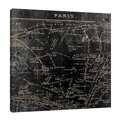 Ophelia & Co. 'Paris Map I' Graphic Art Print on Wrapped Canvas; 30'' H x 30'' W