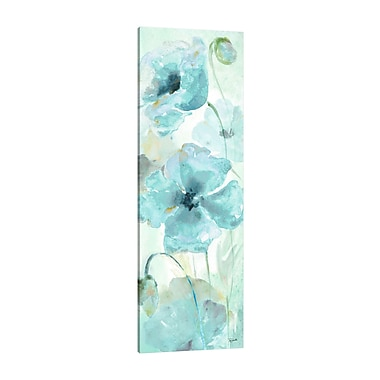 Ophelia & Co. 'Watercolor Blue Poppy IV' Print on Wrapped Canvas; 45'' H x 15'' W