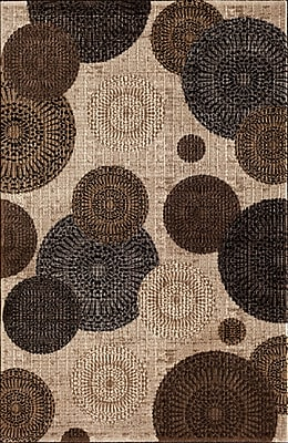 Winston Porter Hettick Chandler Beige Brown/Gray Area Rug; Runner 2' x 7'7''
