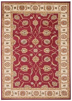 Astoria Grand Lukeson Red Area Rug; 5'3'' x 5'3''