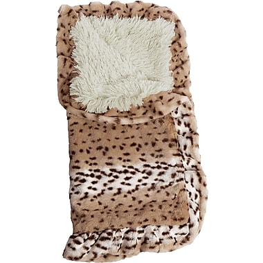 BessieBarnie Blanket Aspen Snow Leopard Hooded Dog Bed (Set of 1000); 24'' W x 24'' D