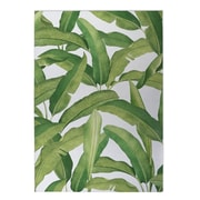 Bayou Breeze Pallavi Banana Leaves Indoor/Outdoor Doormat; 4' x 5'