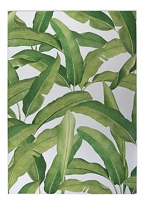 Bayou Breeze Pallavi Banana Leaves Indoor/Outdoor Doormat; 5' x 7'