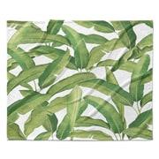Bayou Breeze Pallavi Banana Leaves Fleece Throw Blanket; 50'' W x 60'' L
