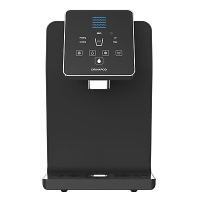 Drinkpod USA Bottleless Countertop Hot, Cold, and Room Temperature Water Cooler; Gloss Black WYF078282031221