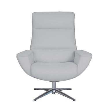 Serta at Home Logan Collaboration Swivel Armchair; Light Gray