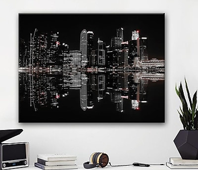 Williston Forge 'Night in the City' Photographic Print on Canvas; 16'' H x 20'' W