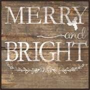The Holiday Aisle 'Merry and Bright' Framed Graphic Art