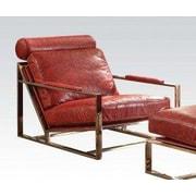 17 Stories Malkesh Top Grain Leather Armchair