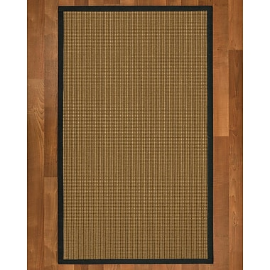 Bayou Breeze Asther Sisal Onyx Area Rug; 4' X 6'