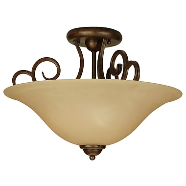 Alcott Hill Jeppesen 3-Light Semi Flush Mount; Peruvian