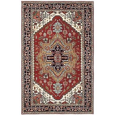 Bloomsbury Market Briggs Traditional Hand Knotted Wool Dark Copper Area Rug
