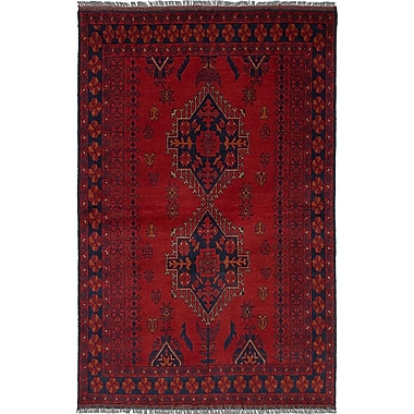 Bloomsbury Market Rosales Traditional Hand Knotted Wool Red Area Rug