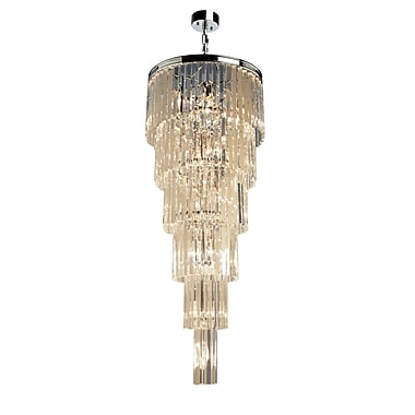 Rosdorf Park Bindera 17-Light Crystal Chandelier; Chrome
