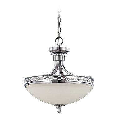 Rosdorf Park Biron 3-Light Inverted Pendant