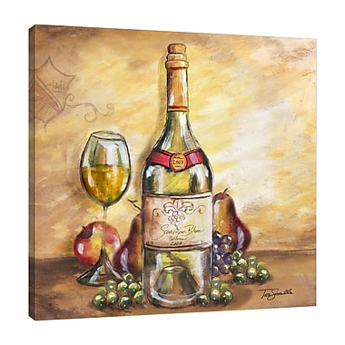 Fleur De Lis Living 'Wine Table Trio III' Print on Wrapped Canvas; 30'' H x 30'' W