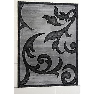 Fleur De Lis Living Tammie Dark Gray Area Rug; 7'11'' x 9'10''